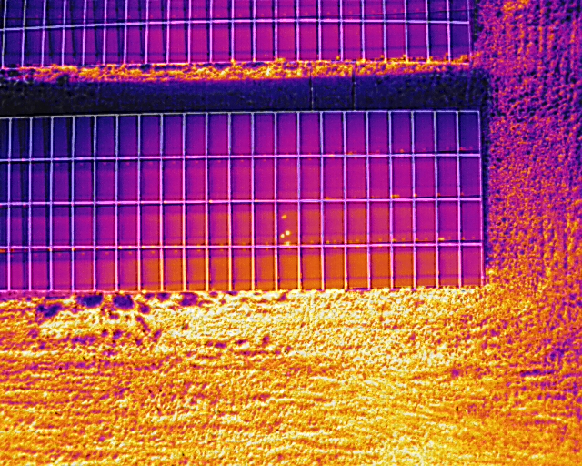 Hot Spots during thermal solar inspection