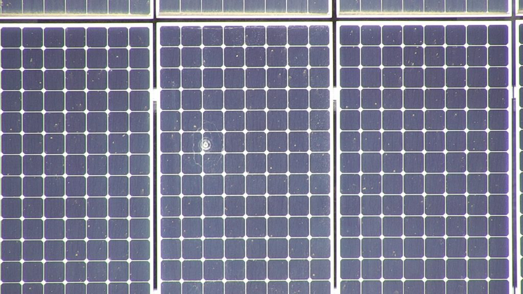 Solar Farm Thermal Inspections Physical Damage