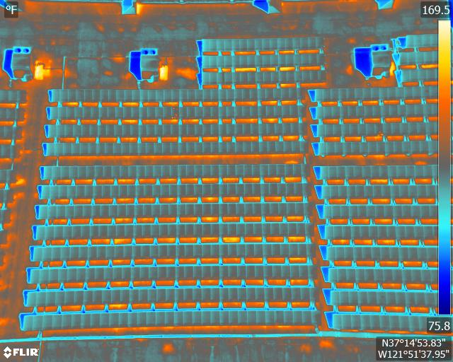 Thermal Drone Services Rooftop Solar Inspection california